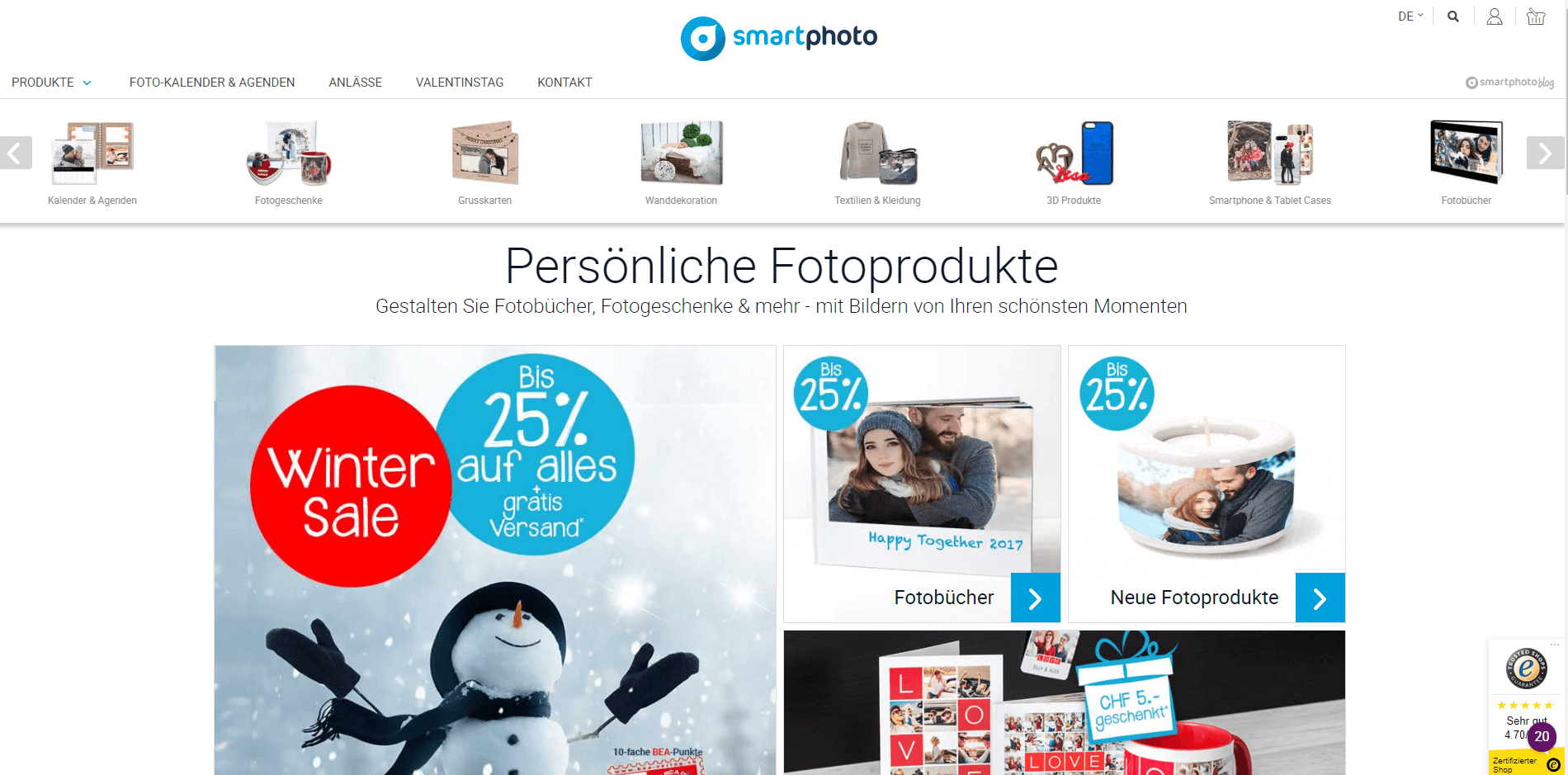 Smartphoto Homepage Screenshot
