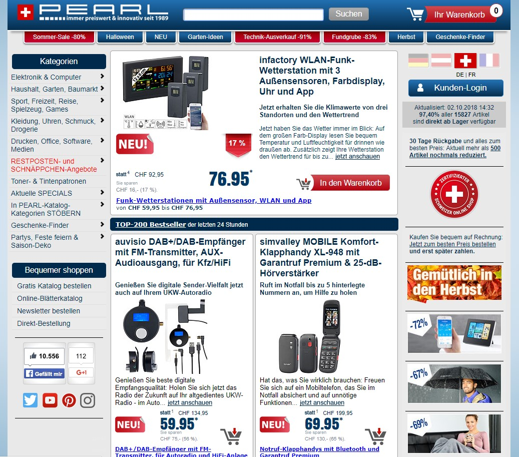 Pearl Homepage Screenshot