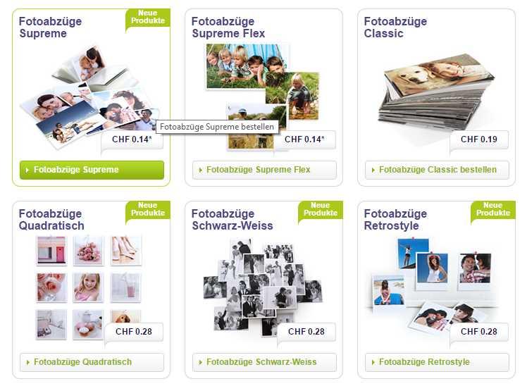 Fotoabzüge Varianten bei smartphoto