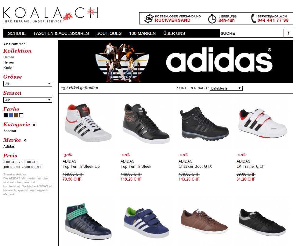 Sneakers bei Koala.ch