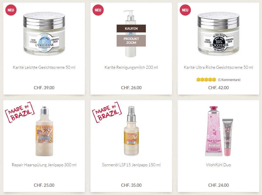 Produkte von L'Occitane