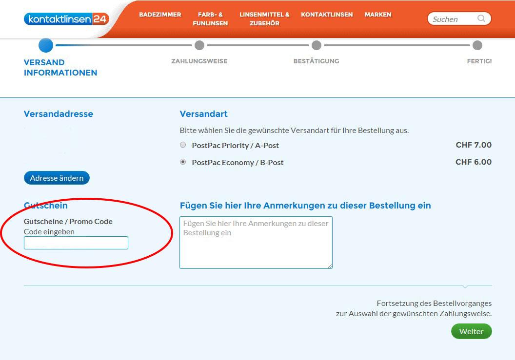 gutscheincode-einloesen-kontaktlinse24